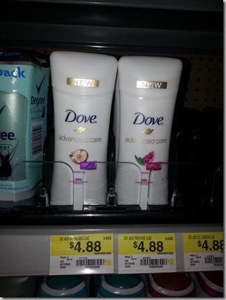 FREE Dove Advanced Deodorant with Overage at Walmart!