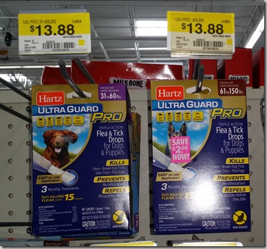 Save $4 on Hartz UltraGuard Pro Flea and Tick Drops at Walmart!