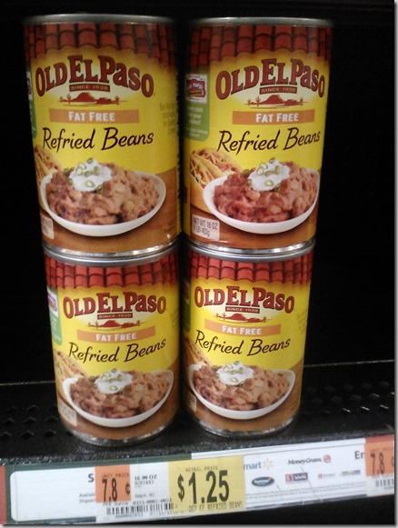 Old El Paso Refried Beans Just $.95 at Walmart!
