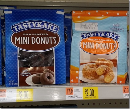 TastyKake Orange or Blueberry Donuts Just $1.00 at Walmart!