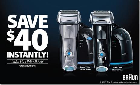 Save $40 on Braun Series 7 Shavers!