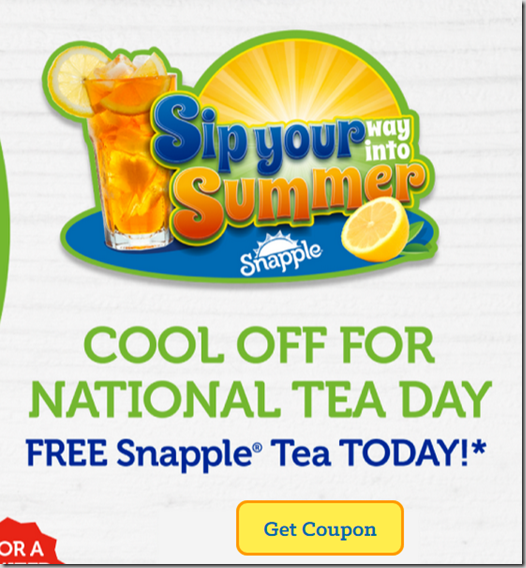 FREE Bottle of Snapple Iced Tea at Walmart!
