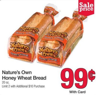 Nature S Own Bread Honey Wheat Target