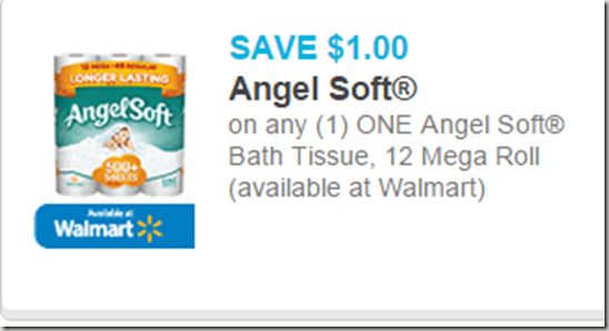 photo relating to Angel Soft Printable Coupon identified as Angel Smooth Tub Tissue Exactly $.21 a Roll at Walmart!