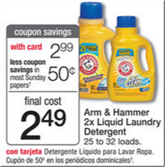 Walmart Price Match Deal: Arm & Hammer Laundry Detergent Just $2.49!