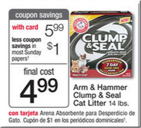 Walmart Price Match Deal: Arm & Hammer Clump & Seal Cat Litter Just $4.99!