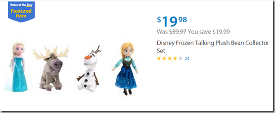 Walmart Values of the Day: Disney Frozen Plush Toy Set for $19.98 or Rachael Ray Cookware for $99!