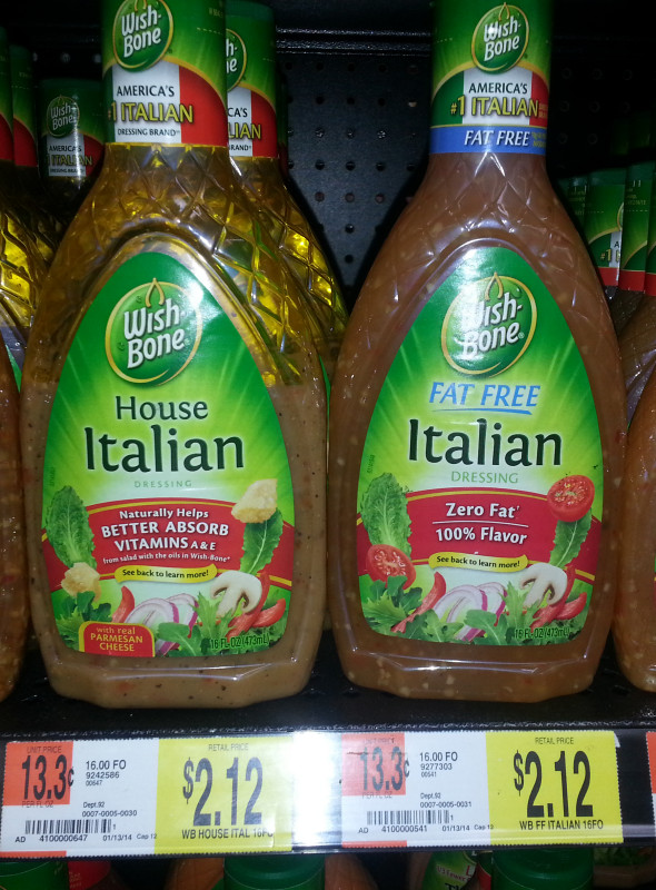 Wish-Bone Salad Dressings Just $1.62 at Walmart!