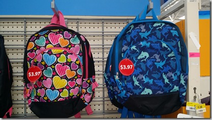 Walmart Backpacks for $3.97