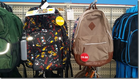 Walmart Backpacks for $9.88