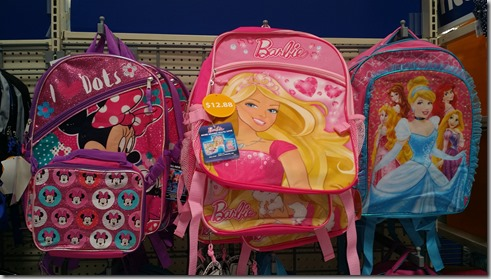 Disney themed backpacks at Walmart for $12.88