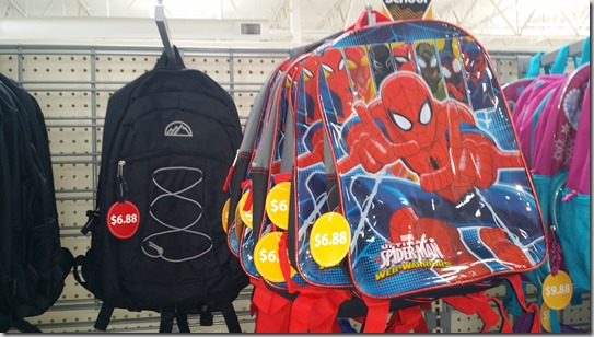 Backpacks at Walmart for $6.88