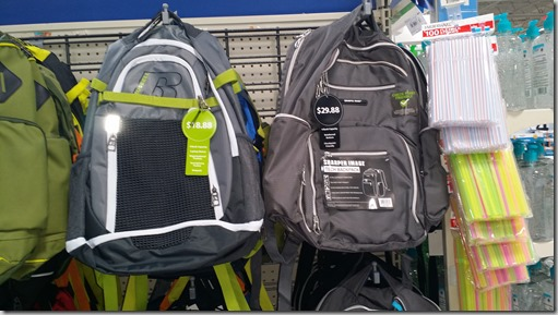 Russell Backpack for $18.88 and a Sharper Image one for $29.88