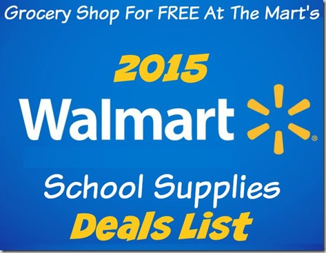 2015 Walmart School Supplies Printable Deal List!