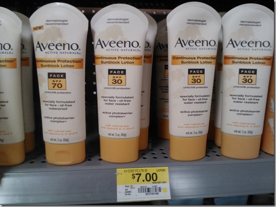 New Printable Coupons for Neutrogena and Aveeno Suncare Products and Walmart Matchups!