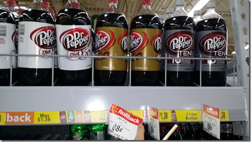 Dr Pepper 2 Liters Just $.13 at Walmart!