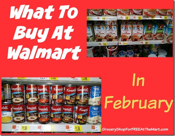 What to Buy at Walmart in February!