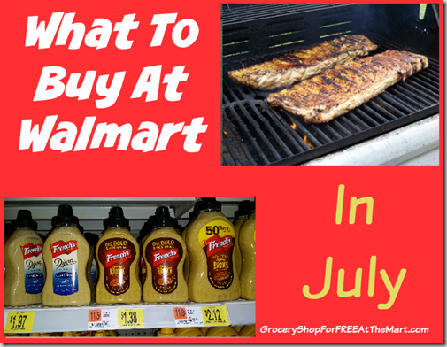 What to Buy at Walmart in July!