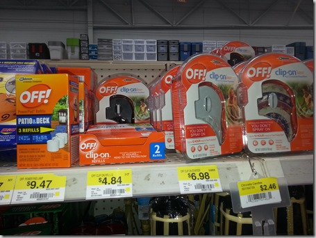Save Over $6 on OFF! Clip-Ons at Walmart!