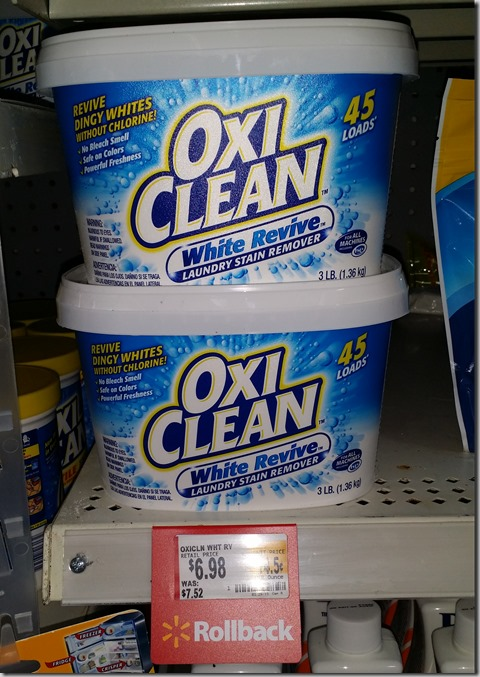 Oxi-Clean Detergent Just $3.97 at Walmart!