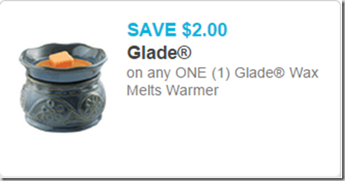 Save $7.50 on Glade Wax Melts Warmers at Walmart!