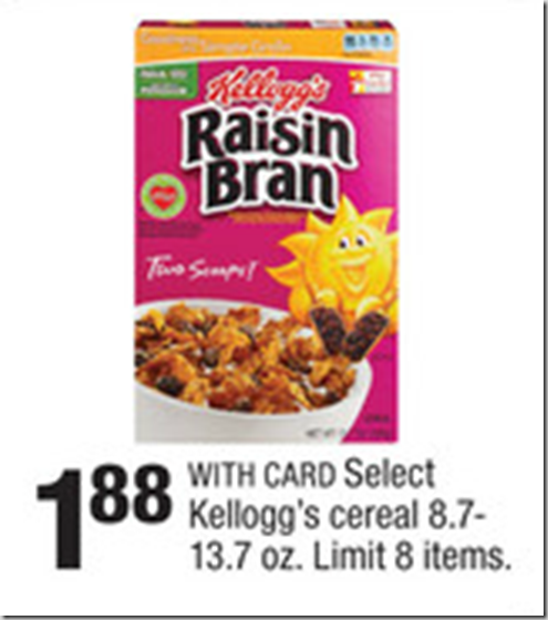 Walmart Price Match Deal: Kellogg's Cereal Just $1.55!