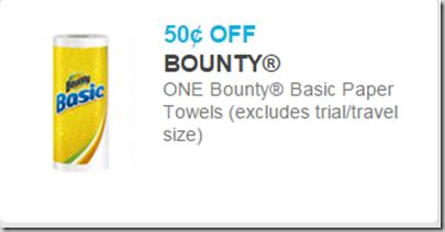 Bounty Basics Paper Towels Just $.07 at Walmart!