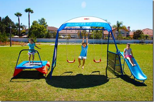 Walmart Dare to Compare Deal: Ironkids Playground with Trampoline Just $169!