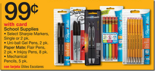Paper Mate Mechanical Pencils or Uni Ball Gel Pens for $.44 at Walmart!