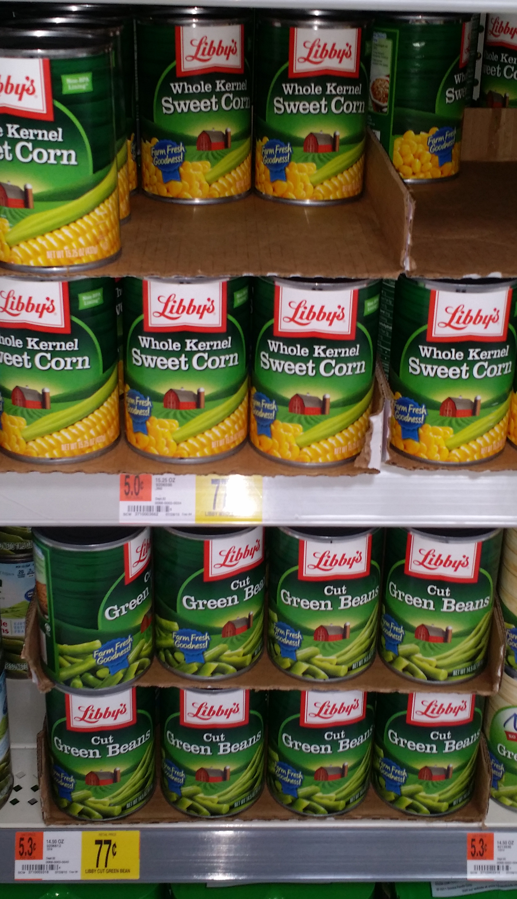 Libby's Vegetables Just $.52 at Walmart!