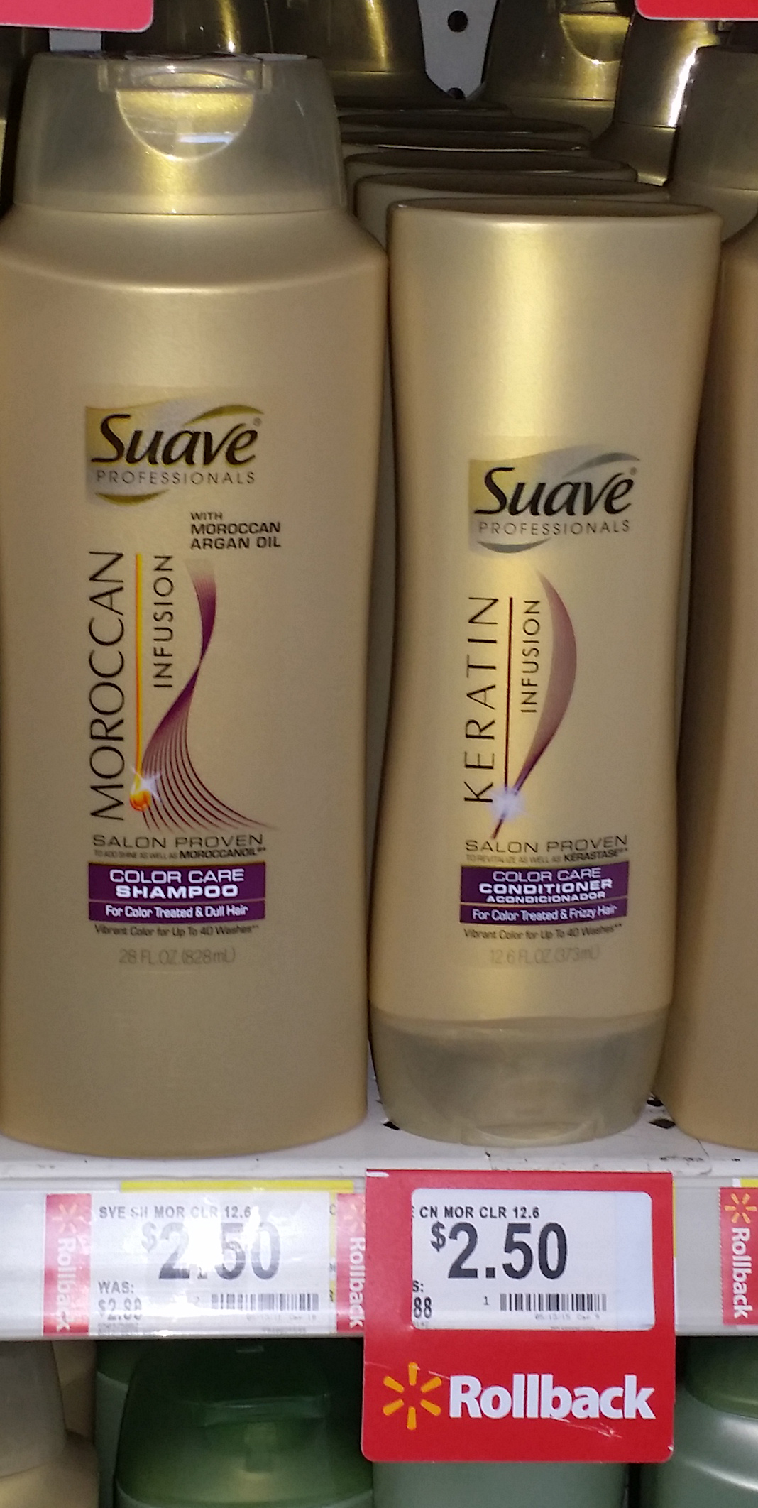 Suave Gold Infusion Shampoo Or Conditioner Just $1.00 at Walmart!