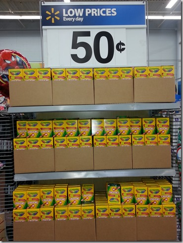 RARE Crayola Crayons Deal! Crayola 24pks Just $.25 at Walmart!