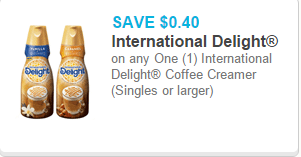 International Delight Coffee Creamer as low as $1.48 at Walmart!