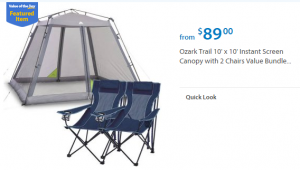 Walmart Values of the Day:  Nutri Ninja for $69 or Ozark Trail Tent for $89!