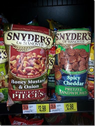 New Printable Coupon for Snyder's of Hanover Pretzel Pieces!
