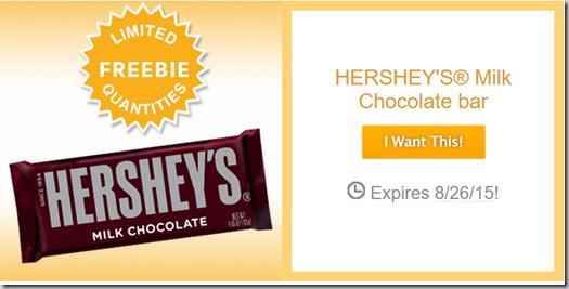 FREE Bar of Hershey's Chocolate at Walmart!