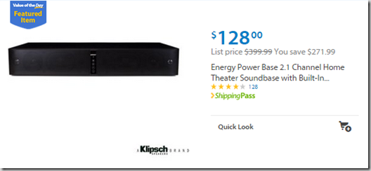 Walmart Values of the Day: Augason Farms Emergency Food for $142.27 or Energy Power Base Speaker for $128!