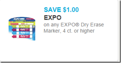 Save $1 on Expo Dry Erase Markers!