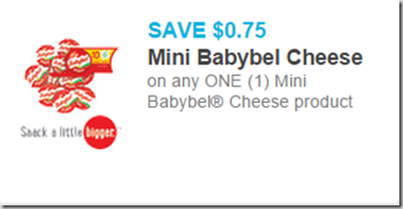 New Printable Coupons for The Laughing Cow and Mini Babybel Cheese!