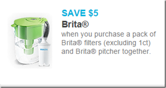 New High Dollar Coupon for Brita Pitchers and Filters!