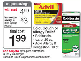 FREE Advil Cold, Cough or Allergy with Overage at Walmart!