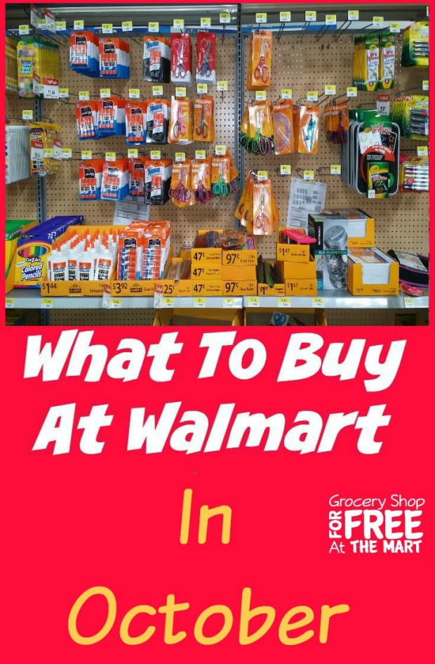 What to Buy at Walmart in October!