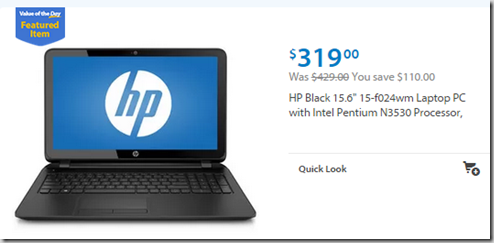 Walmart Value of the Day: HP Laptop Just $319 or Faded Glory Leggings for $4!