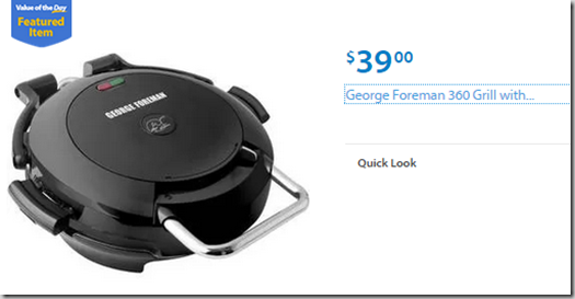 Walmart Values of the Day:Stanley Tool Chest for $118 or George Foreman Grill for $39!