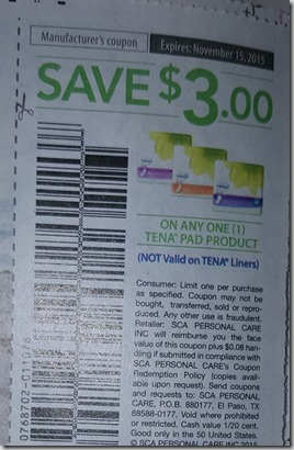 Bad Barcode on Tena Coupon Makes it Unusable for Couponers!