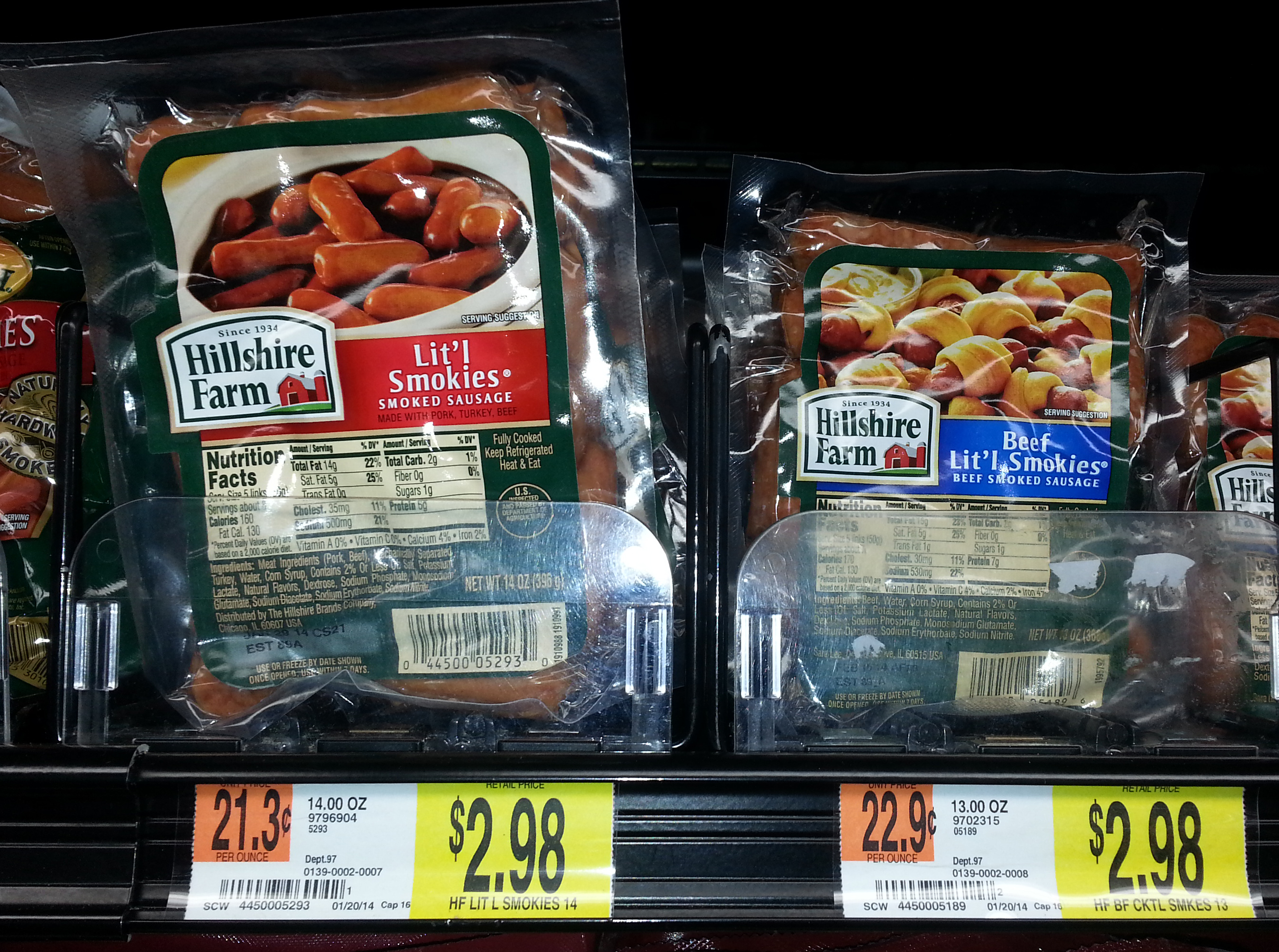 Hillshire Farm Lit'l Smokies Just $2.43 at Walmart!