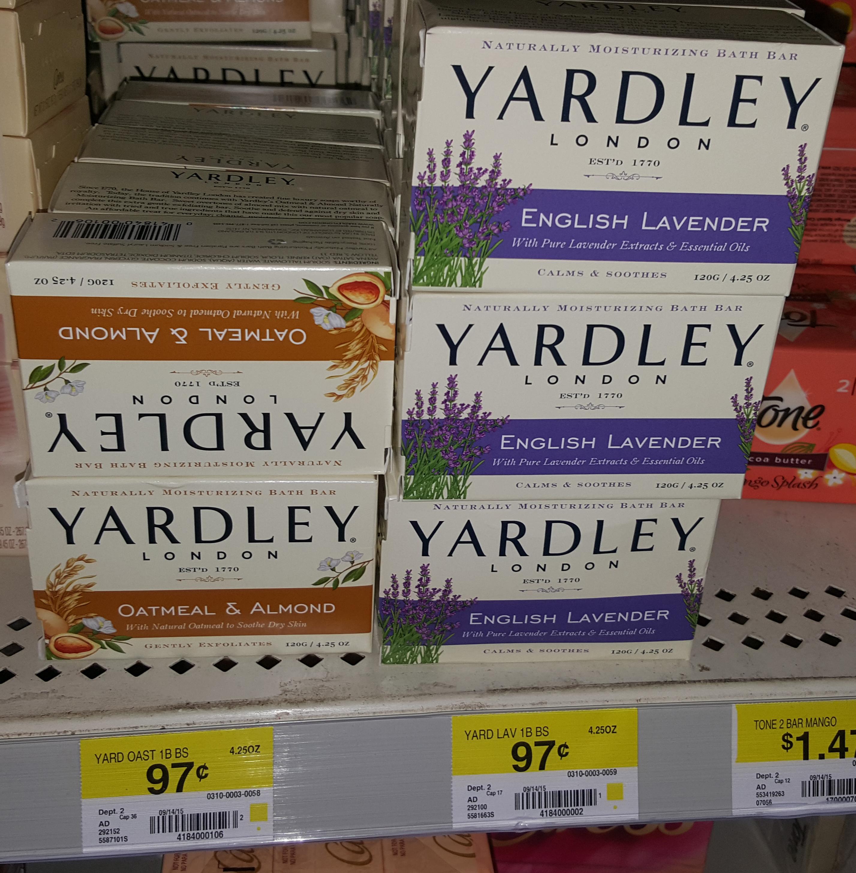 Yardley Bar Soap Just $.72 at Walmart!
