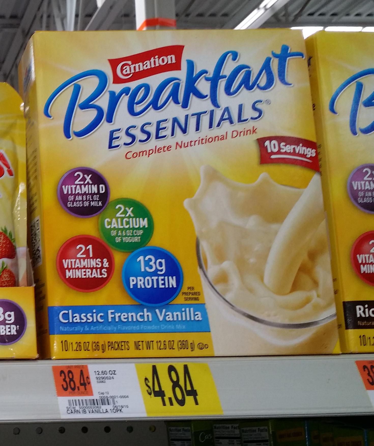 Carnation Breakfast Essentials Just $2.42 at Walmart!