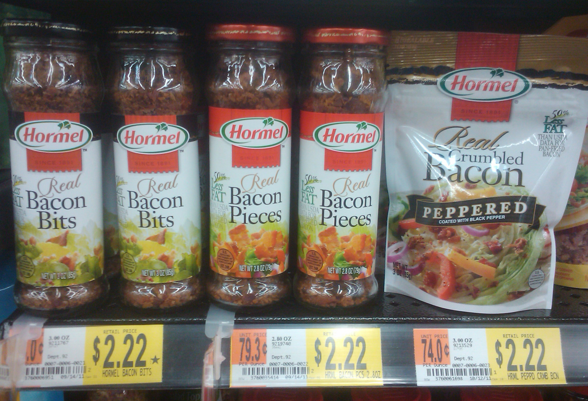 HORMEL Bacon Toppings Just $1.72 at Walmart!