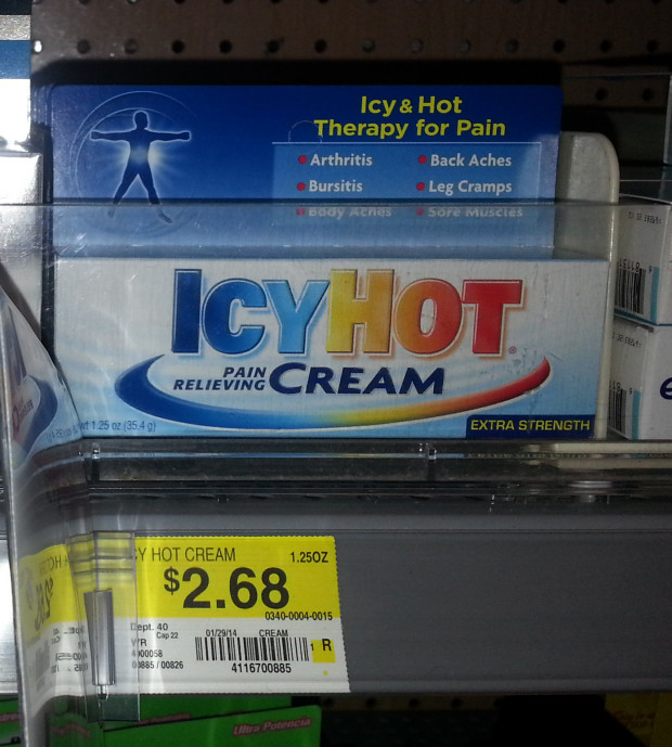 photograph regarding Icy Hot Coupons Printable titled Icy Very hot Product Exactly $1.68 at Walmart!